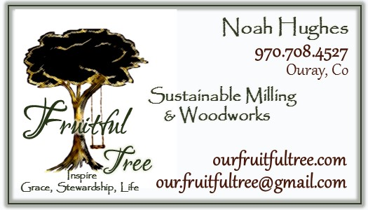 Fruitful Tree Business Card-Ouray Tree with swing white
