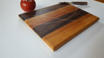 Red Plum & Walnut cutting board