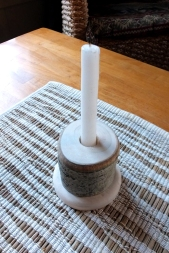 Rustic Aspen candle holder by Noah Hughes