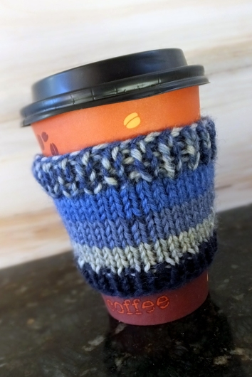 Blue Wool Coffee Cozy