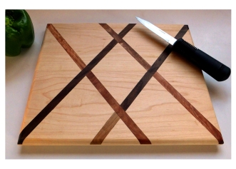 White maple and Black Walnut Crisscross by Noah Hughes