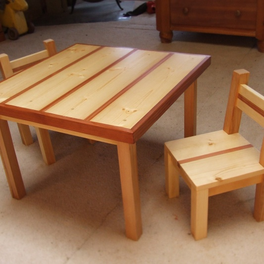 Kids Table and Chairs by Noah Hughes
