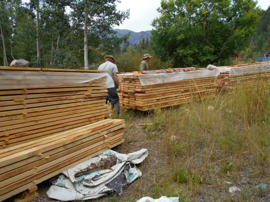 Lumber made with trees from the owner's land