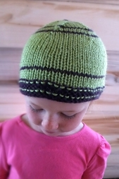 Kids Green and Purple Hat