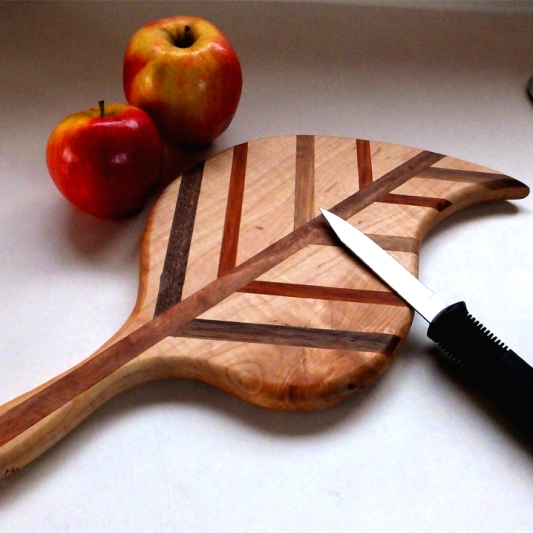 Reclaimed Maple, Black Walnut, Mahogany Cutting Board