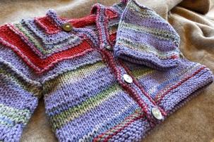 Baby sweater handmade by Anna Hughes