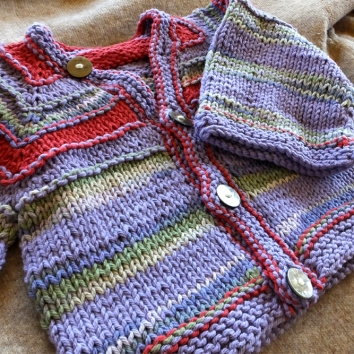 Baby sweater handmade by Anna Hughes