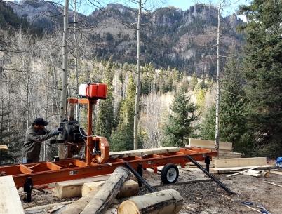 Milling Aspen logs