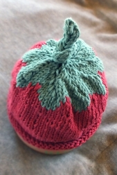 Baby strawberry hat