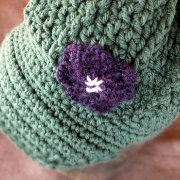 100 % Acrylic Girl's 2T-4T Newsboys hat, handmade by Anna Hughes