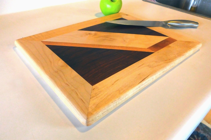 Custom cutting board, made with milled lumber by Noah Hughes