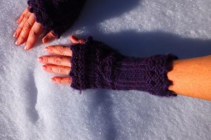 Custom made Victorian style hand mits