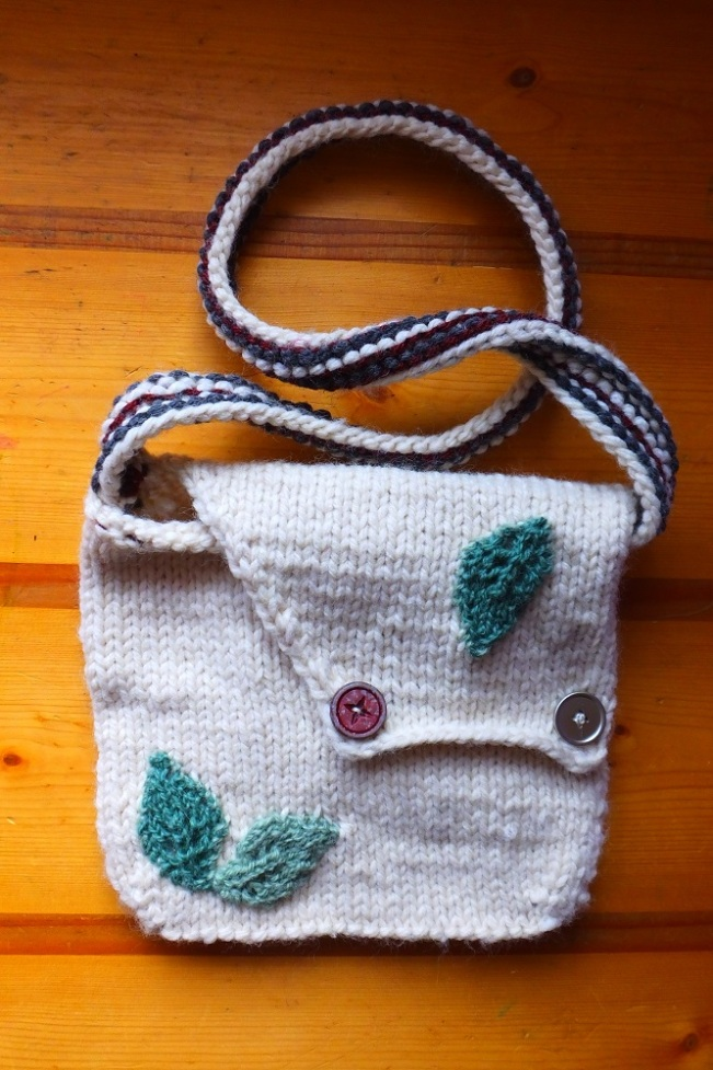 100 % Wool purse, My own original design