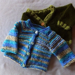 Two Baby Sweaters