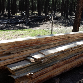 Lumber made from trees from the owner's land